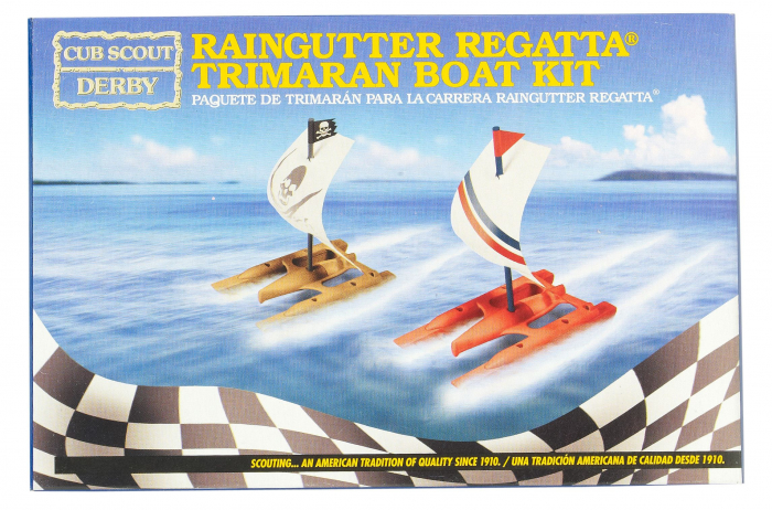 Raingutter Regatta Racing Trimaran Kit Boy Scouts Of America