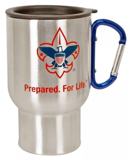 Regatta Stainless Steel Mug /& Karabiner Camping Cup Mens