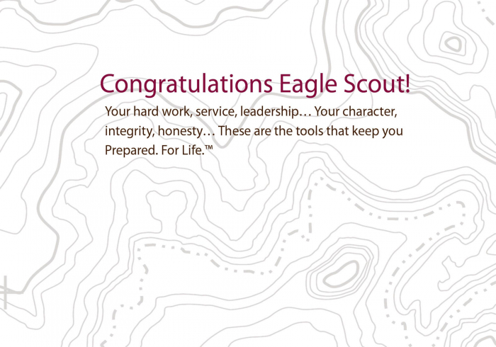 This is a graphic of Eagle Scout Congratulations Card Printable in scout leader