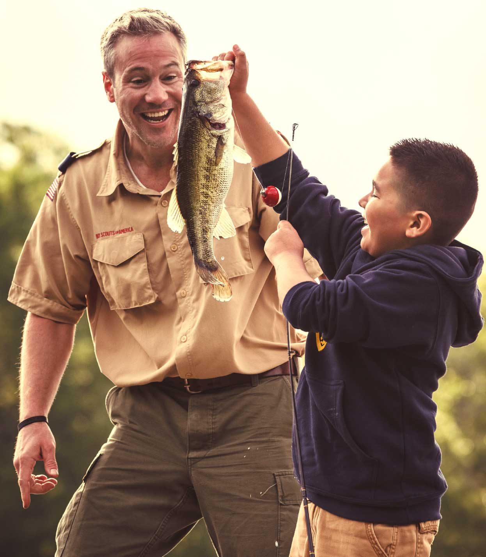 BSA Camp Fishing