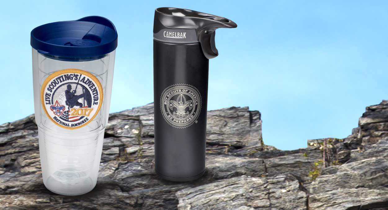 BSA Scouting Branded Travel Tumbler and Water bottle