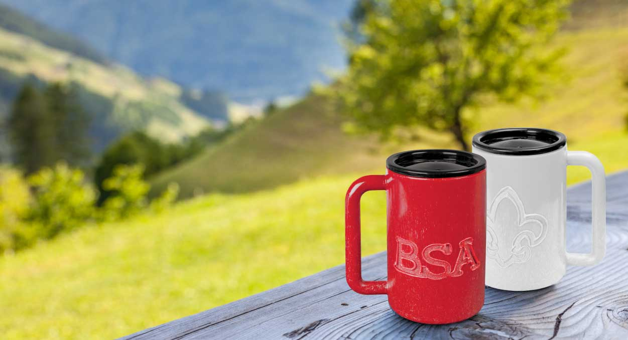 BSA Scout Branded Travel Mugs