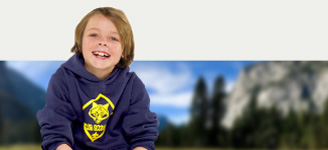 BSA Branded Cub Scout Hoodie- Navy Blue and Gold