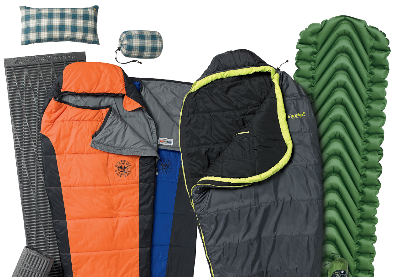 Camp Sleeping Bags, Pads, Pillows