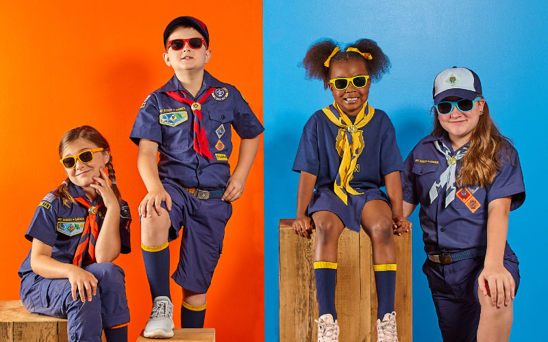 Cub Scouts in Uniform